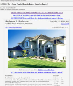 Craigslist flyers for real estate