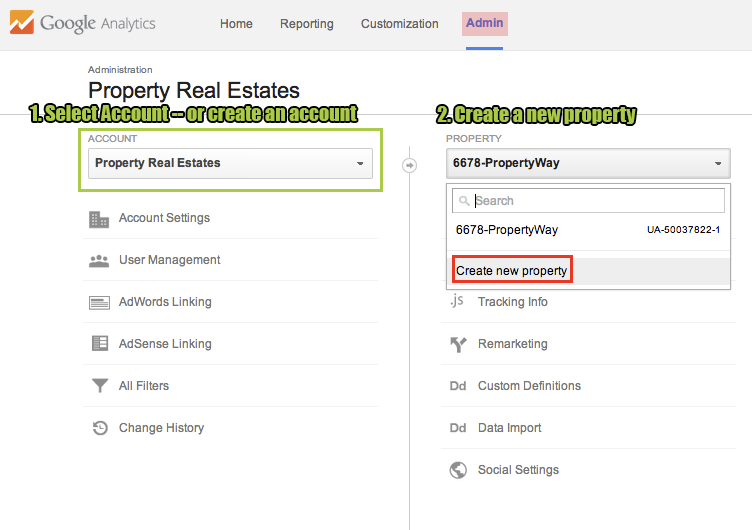 Google Analytics Single Property Sites